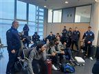 הנבחרת עוכבה כ-3 שעות בשדה התעופה בליטא