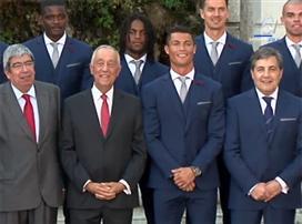 כשרונאלדו פגש את נשיא פורטוגל