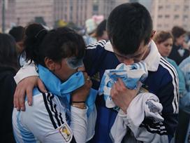 הלם: האוהדים של ארגנטינה בדיכאון