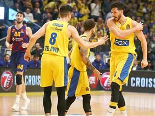 בליגה של הגדולות: מכבי ניצחה את ברצלונה