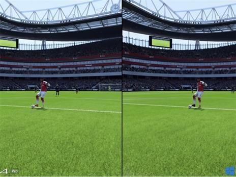 Pro מול PC – ההבדל זניח עד לא קיים. ווינדוז מימין, PS4 PRO משמאל.