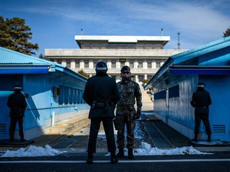 צפון מול דרום, גבול קוריאה (Getty)
