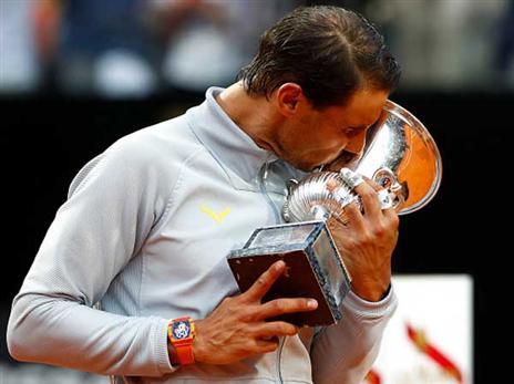צפו: נדאל גבר על זברב וזכה בטורניר רומא