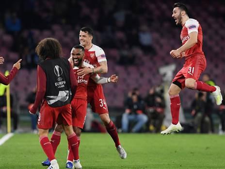 רק ארסנל ויובה ניצחו בנאפולי העונה (GETTY)