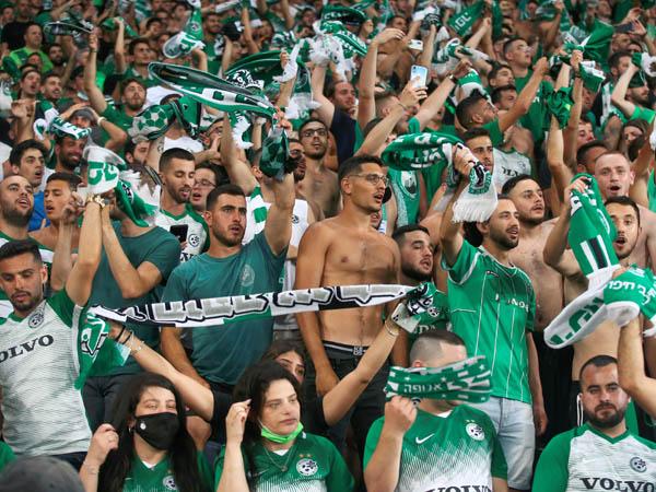 לא יוכלו לעודד בטביליסי. אוהדי חיפה (צילום: אלן שיבר)