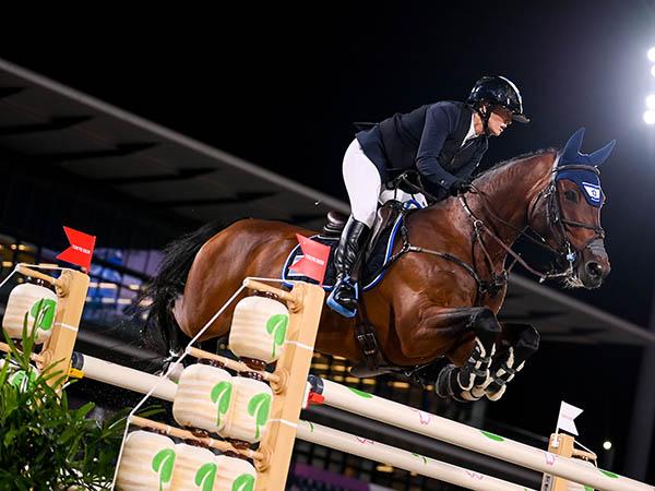 אשלי בונד והסוס דונאטלו - סיימה במקום ה-11 בקפיצות סוסים (gettyimages)