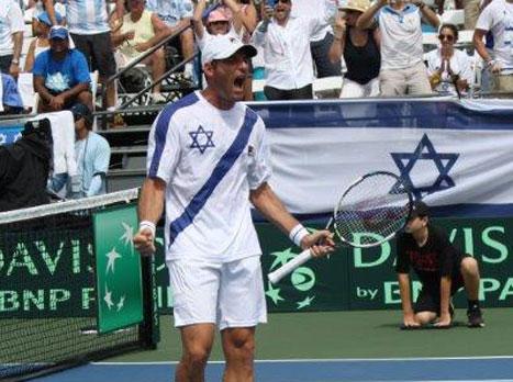 ארליך אחרי הניצחון בזוגות