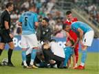 אבו חנא נפצע, חשש לפגיעה ברצועות הברך
