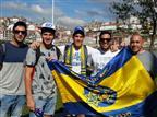 צפו באוהדי מכבי חוגגים לפני המשחק מול פורטו