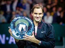 מתקרב למאה: פדרר זכה בטורניר רוטרדאם
