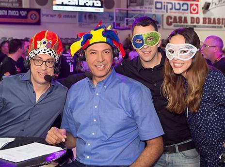 אנשי ערוץ הספורט הגיעו עם הרבה מצב רוח (אלן שיבר)