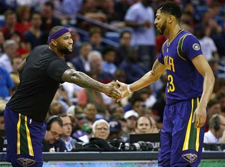 משחק ראשון ביחד במדי ניו אורלינס. קאזנס ודייויס (Getty)