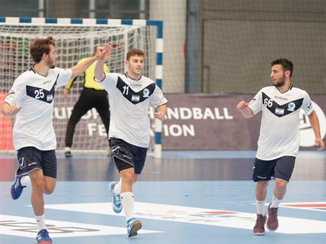 הנבחרת עמדה במטרה (צילום: EHF)