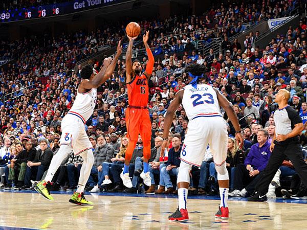 מהלך ניצחון ענק. ג'ורג' (צילום: Jesse D. Garrabrant/NBAE via Getty Images)