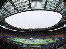 אווירה מדהימה באצטדיון בזמן שירת ההמנון הצרפתי (Getty)