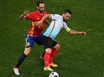 טוראן שומר על הכדור מול חואנפראן (getty)