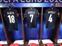 חדר ההלבשה של האלבנים מבריק ומצוחצח לקראת המשחק (uefa)