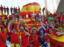 ספרד, אלופת אירופה למי ששכח, לא הפסידה 14 משחקי יורו ברציפות (11 ניצחונות) ולא ספגה 690 דקות (Getty)