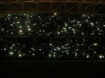 פתיחת המשחק התעכבה בעקבות הפסקת החשמל (צילום: אלן שיבר)
