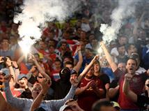 הקהל הרוסי בטירוף אחרי המשחק (getty)