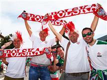 גם הקהל של פולין הוסיף הרבה צבע (gettyimages)