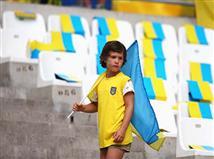 אוהדי אוקראינה עם משחק הפרידה שלהם מהיורו (gettyimages)