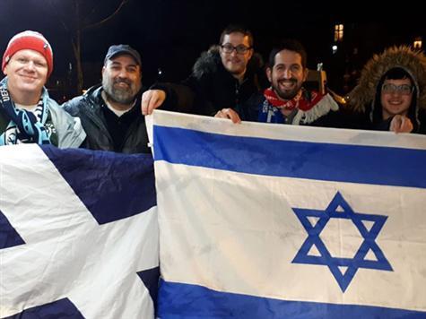 הגיעו מוכנים. <FONT color=#000099>צפו באוהדי ישראל מעודדים לפני סקוטלנד.</FONT>